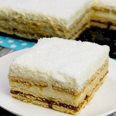 """Tortul """"Raffaello"""" este o prăjitură îndrăgită de toată lumea, iar pe internet sunt o mulțime de rețete pentru prepararea sa. Noi însă vă prezentăm o rețetă uimitoare fără a fi nevoie să dați prăjitura No Cook Desserts, Vanilla Cake, Coco, Deserts, Food And Drink, Sweets, Cookies, Whimsical, Classy"""