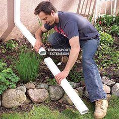 Affordable Ways to Dry Up Your Wet Basement For Good: Add Gutters and Extend Downspouts #DIY
