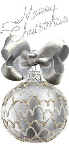 Silver Christmas, Christmas Colors, Christmas And New Year, Christmas Bulbs, Christmas Wishes, Merry Christmas, Color Themes, Decorative Boxes, Elegant