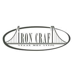 Logo ontwerp voor Iron craft. Maatwerk in staal.