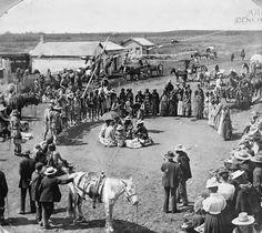 Cree Dance at Wetaskiwin, Alberta, 1898. Source: Glenbow Archives ..