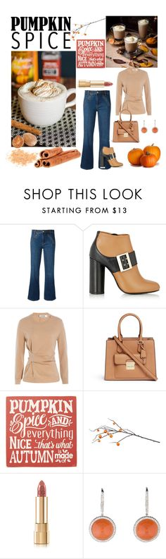"""""""Pumpkin Spice Latte Date."""" by cradee ❤ liked on Polyvore featuring Tory Burch, Lanvin, Jil Sander, Michael Kors and Sara's Signs"""