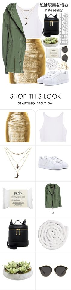 """""""..."""" by imthinkinginyou ❤ liked on Polyvore featuring Yves Saint Laurent, Charlotte Russe, adidas, philosophy, Mr & Mrs Italy, Karen Walker, VIPP, Ethan Allen and Christian Dior"""