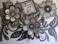 Creative Journey: Zentangle and Outline Rubber Stamp Flowers