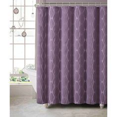 Victoria Classics Plum Grayson Shower Curtain Set (1.110 RUB) ❤ liked on Polyvore featuring home, bed & bath, bath and shower curtains