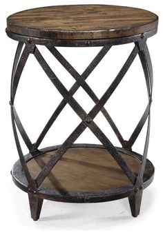 Magnussen T1755 Pinebrook Wood Round Accent Table - contemporary - side tables and accent tables - Hayneedle