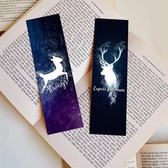 Creative Bookmarks, Bookmarks For Books, Cute Bookmarks, Bookmark Craft, Bookmark Ideas, Paper Bookmarks, Harry Potter Bookmark, Harry Potter Diy, Watercolor Bookmarks