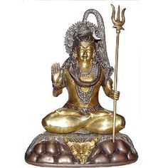 Meditation Statue of God Shiva Made in Brass for Religious Gifts Size : 19.68 x 13.33 x 26.03 Cm: Amazon.co.uk: Kitchen & Home