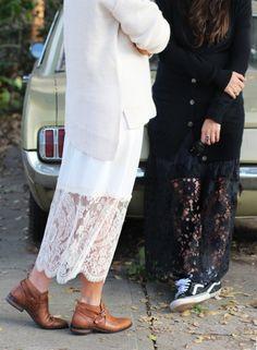honestly-wtf:  DIY Lace Layering Skirt | HonestlyWTF