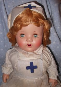 Large Factory Orig. NURSE Composition Mama Doll by MyDollyMarket