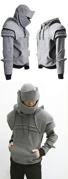 Armored* knight convertible hoodie!! (*Note: May not protect against sword blows)