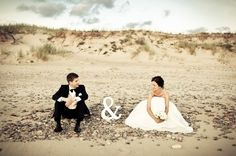 Cute wedding picture on the beach - Foto matrimonio in spiaggia