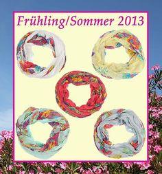 Rundschal, Loopschal, Schlauchschal Frühling/Sommer 2013 Blumenmuster € 9,90