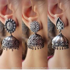 To buy Dm or whatsapp EarringsJhumka Indian Jewelry Earrings, Buy Earrings, Jewelry Design Earrings, Silver Jewellery Indian, Gold Earrings Designs, Silver Earrings, Antique Jewellery Designs, Fancy Jewellery, Stylish Jewelry