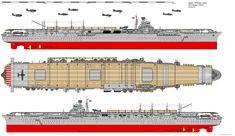 Shokaku-class Aircraft Carrier (1944) by ijnfleetadmiral.deviantart.com on @deviantART