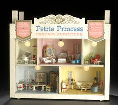 Ideal Petite Princess doll house furniture. Loved that they came packaged in their own rooms....