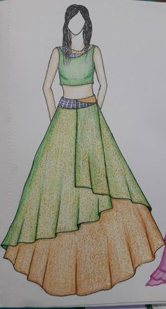 24 Ideas For Drawing Woman Dress Art - Dress Dress Design Drawing, Dress Design Sketches, Fashion Design Sketchbook, Dress Drawing, Fashion Design Drawings, Fashion Sketches, Fabric Drawing, Fashion Drawing Dresses, Fashion Illustration Dresses