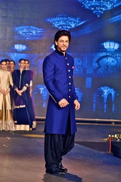 That's what SRK said in an interview. Read on to know what exactly he means. Bollywood superstar Shah Rukh Khan has had a tryst with off-beat films with Maya Memsaab, Swades, Chak De! India, but . Sherwani For Men Wedding, Wedding Dresses Men Indian, Wedding Dress Men, Wedding Men, Wedding Suits, Blue Sherwani, Sherwani Groom, Mens Sherwani, Tuxedos