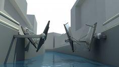 collapsible bridge folding concept amsterdam design video Jan Blaton Collapsible Bridge   Blaton