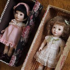 「すずらん」と「コマドリ」 ◆「人・形」展  2016年9月28日(水)~10月4日(火) 丸善・丸の内4Fギャラリー #創作人形 #bjddoll #doll #ビスクドール