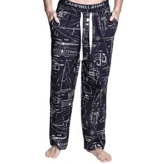 Clyde Men's PJ Pants in Blueprint Pattern | Shop Sleepwear – Campbell & Hall