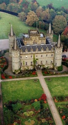 Inveraray Castle and Garden, Argyll, Scotland, home of Clan Campbell.