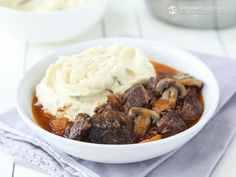 This classic French dish is the perfect choice for Valentine's Day dinner. I used dry Burgundy wine that gives the slow-cooked meat an amazing deep flavour. It's delicious, really simple and can be cooked even by a novice. Compared to traditional beef bourguignon, I skipped the pearl onions to reduce the carb count. ...