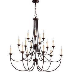 Transitional Colonial Chandelier - Large - Shades of Light