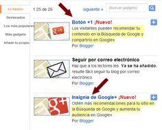 Nuevos gadgets de Blogger para Google+