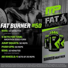 #MusclePharm Daily Workouts!  Friday Fat Burner  #WeLiveThis #RealAthletesRealScience #MPNation