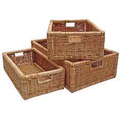 Wicker Storage Baskets For Shelves For Rooms Baskets For Shelves
