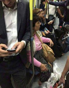 Tumblr: gifsboom:  Old lady in a subway.  (via: wartesz)