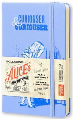 Moleskine Alice in Wonderland Limited Edition Blue Hard Plain Pocket Notebook by MOLESKINE S.P.A. (8052204400874) | hive.co.uk