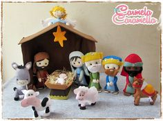 Carmela Caramella : Curso Presépio - Aula 5 - moldes Nativity Ornaments, Crochet Christmas Ornaments, Christmas Nativity, A Christmas Story, Felt Ornaments, Kids Christmas, Christmas Decorations, Christmas Projects, Holiday Crafts