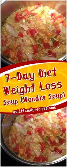 7-Day Diet Weight Loss Soup (Wonder Soup) #easyrecipe #delicious