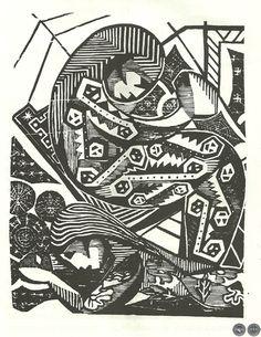 Portal Guaraní - GUA'I RATAYPY - FRAGMENTOS DEL FOLKLORE GUAIREÑO - Por LEÓN CADOGAN Engraving Printing, Portal, Playing Cards, People, Folklore, Lino Cuts, White People, Black, Printmaking