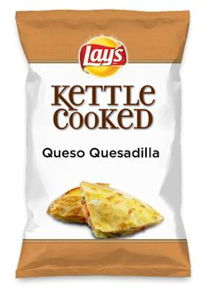 Wouldn't Queso Quesadilla be yummy as a chip? Lay's Do Us A Flavor is back, and the search is on for the yummiest flavor idea. Create a flavor, choose a chip and you could win $1 million! https://www.dousaflavor.com See Rules.