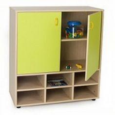 Mueble escolar intermedio casillero y armario