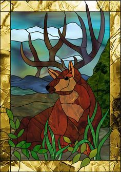 stained glass deer pattern | Get the stained glass pattern you want delivered instantly to your ...