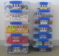 This is a brilliant idea!    Lego Organization Labels www.boymamateachermama.com
