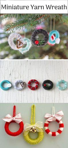 Miniature Yarn Wreath Ornament