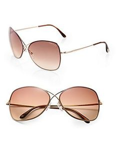 Tom Ford Eyewear Colette Rimless Aviator Sunglasses Tom Ford Eyewear, Tom  Ford Sunglasses, Round 0d3311edc048