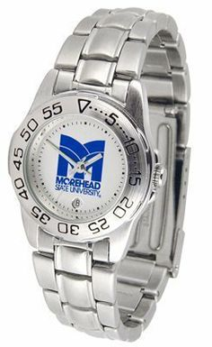 Morehead State Eagles Suntime Ladies Sports Watch w/ Steel Band - NCAA College Athletics by Sun Time/Links Warner. $49.95. The Ladies Sport Steel watch by Suntime features your favorite team logo in a European styled stainless steel case with a stainless steel strap and security buckle.