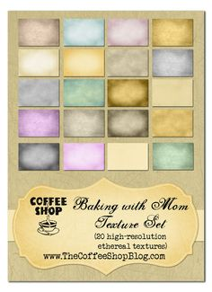 CoffeeShop Free Photoshop Textures  http://www.thecoffeeshopblog.com/