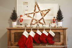 DIY Rustic Christmas Star