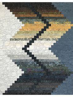 Pieced Lap Quilt & Throw Patterns - Zig Zag Quilt Pattern
