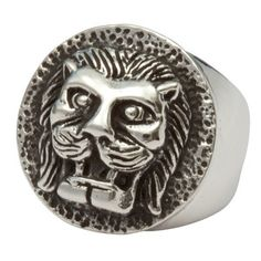 Lion Button Ring now featured on Fab.