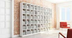 Bücherregal Modern bücherregal modern weiß holz asymmetrisch sessel bequem petiteamie