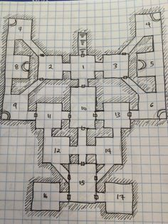 Savage Swords of Athanor: Monday Map: More Dungeons