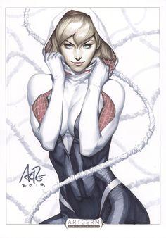 Marvelous Gwen Stacy Spiderwoman art by Stanley Lau